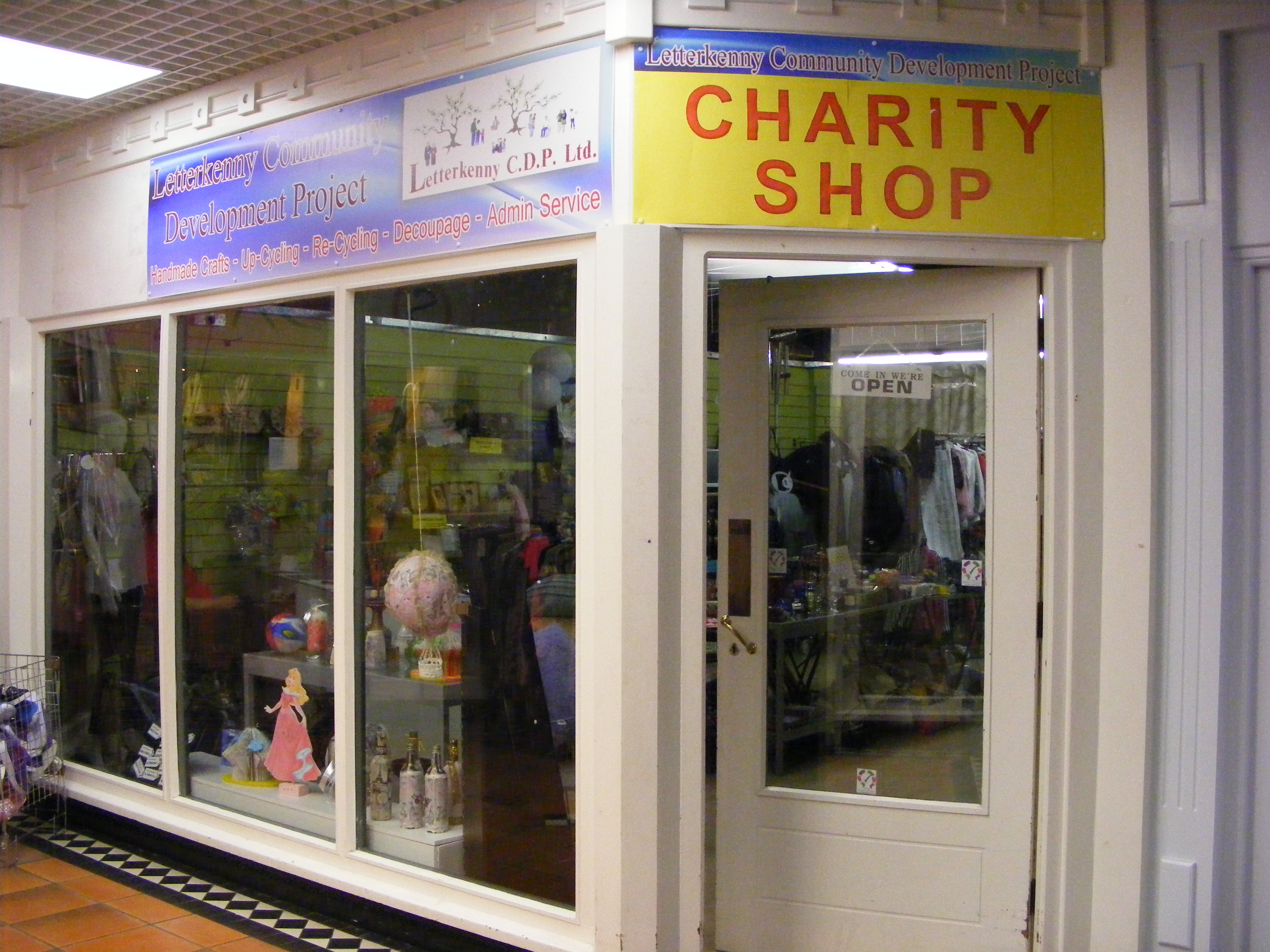 Cdp Charity Shop Letterkenny Community Development Project Clg
